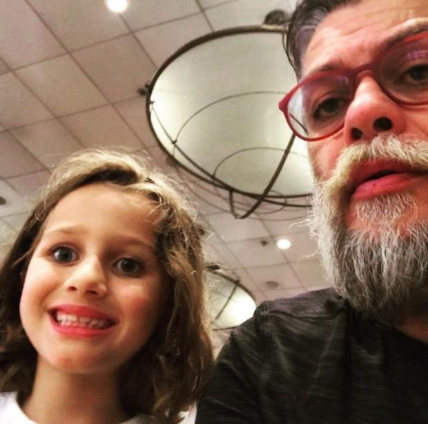 Ella e Fábio Assunção (Foto: Reprodução/Instagram)