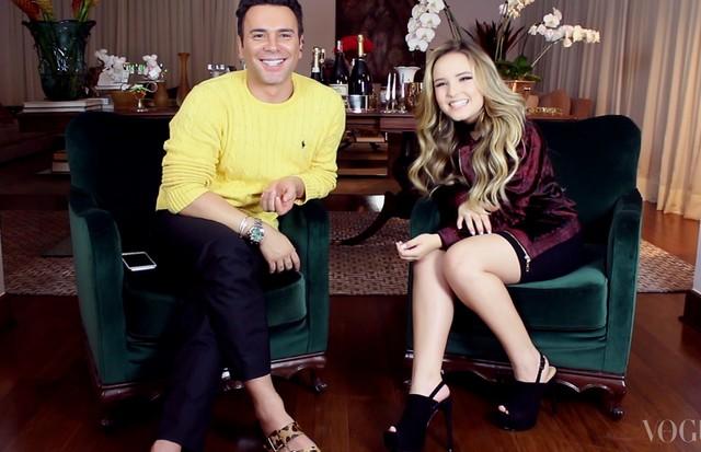 Mister V entrevista Larissa Maoela (Foto: Divulgação)