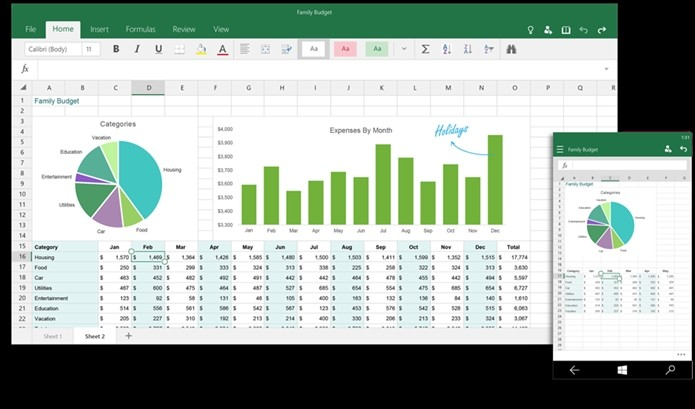 Excel para Windows 10 (Foto: Divulgação)