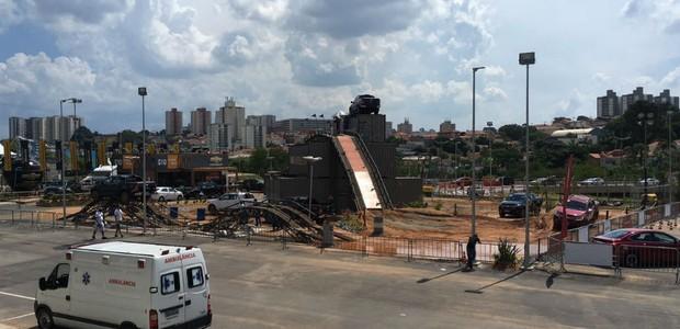Área de test-drive da Chevrolet no Salão de São Paulo  (Foto: Caio Patriani/Autoesporte)