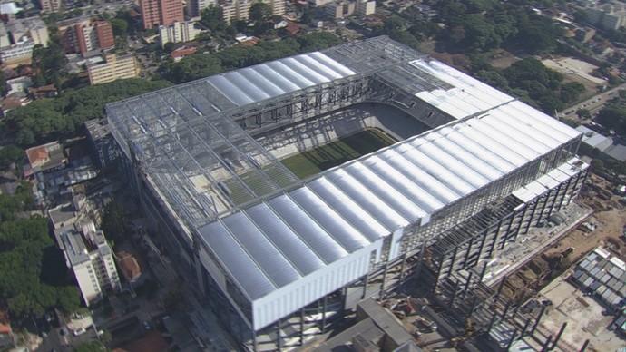 Arena da Baixada foto aérea (Foto: reprodução RPCTV)
