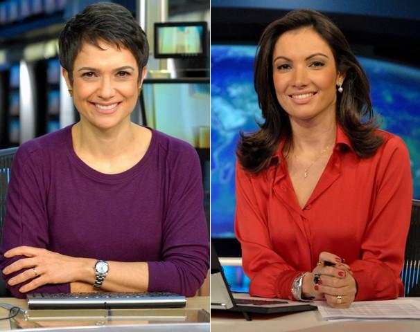 Sandra Annenberg e Patricia Poeta apresentam o Jornal Nacional no dia 8 de março, Dia Internacional da Mulher (Foto: Globo)
