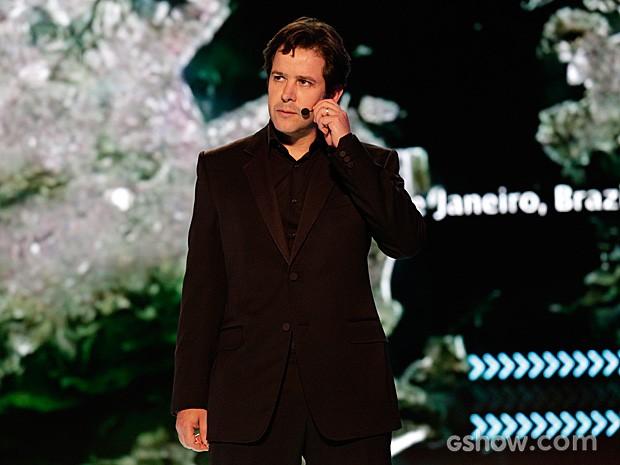 Jonas Marra anuncia que vencedor da competição vai ser cabeça da Marra Brasil (Foto: Fábio Rocha / TV Globo)