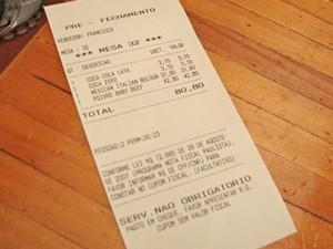 nota fiscal (Foto: Arquivo/G1)