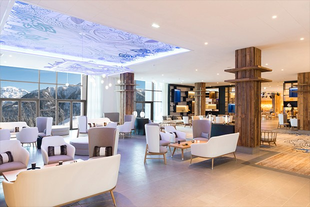 Lobby do hotel Grand Massif Samoens (Foto: Divulgação)