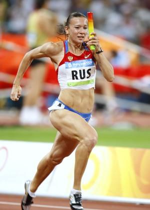 Yuliya Chermoshanskaya Atletismo Rússia (Foto: Al Bello / Getty Images)