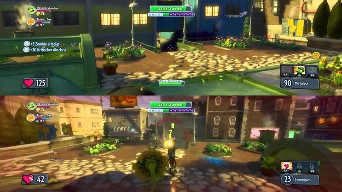 A única forma de jogar Plants vs. Zombies: Garden Warfare com um amigo do lado é no Xbox One e PlayStation 4 (Foto: youtube.com)