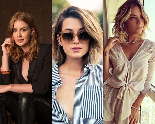 Famosas como Marian Ruy Barbosa, Keira Knightley e Giovanna Ewbank adotaram o long bob (Foto: Divulgação Rede Globo e Instagram)