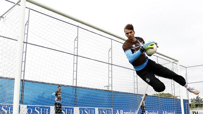 Grêmio treino goleiro Leo Grêmio (Foto: Lucas Uebel/Divulgação)