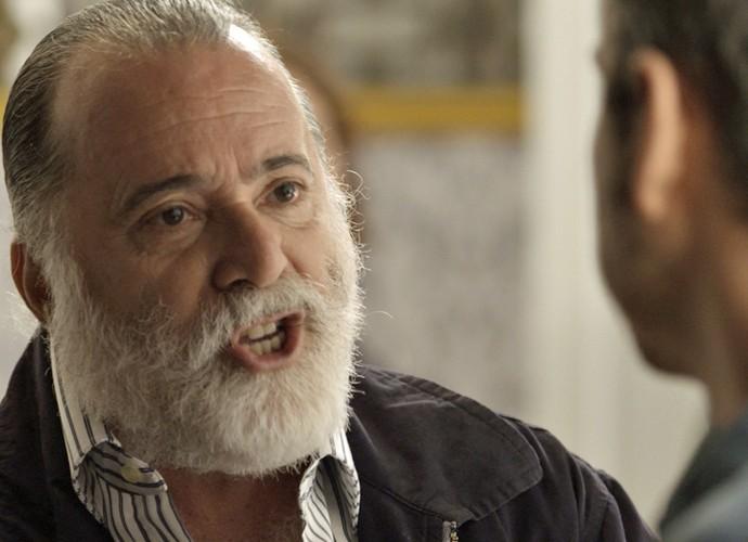 Zé Maria manda a real para Romero (Foto: TV Globo)