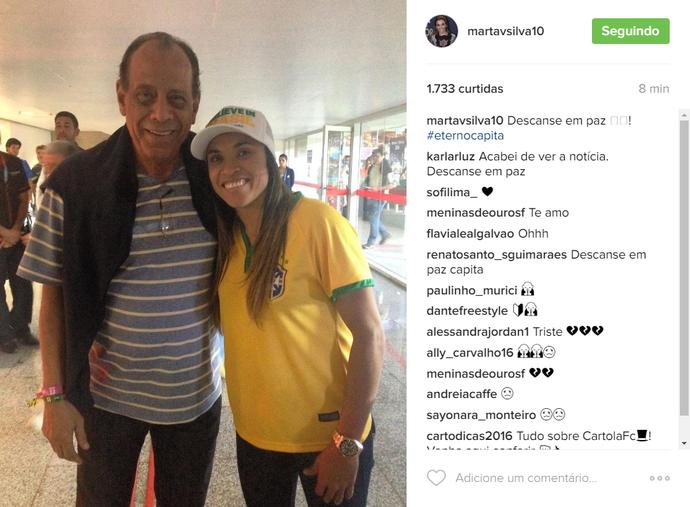Marta homenagem Carlos Alberto Torres (Foto: Reprodução / Instagram)