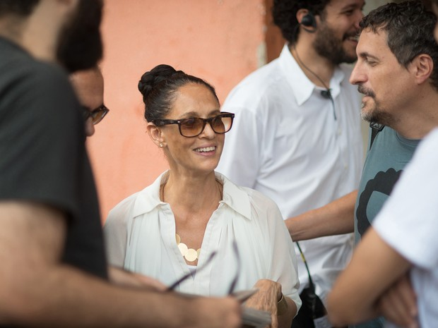 Sonia Braga nos bastidores de 'Aquarius' (Foto: Victor Juca/Divulgação)