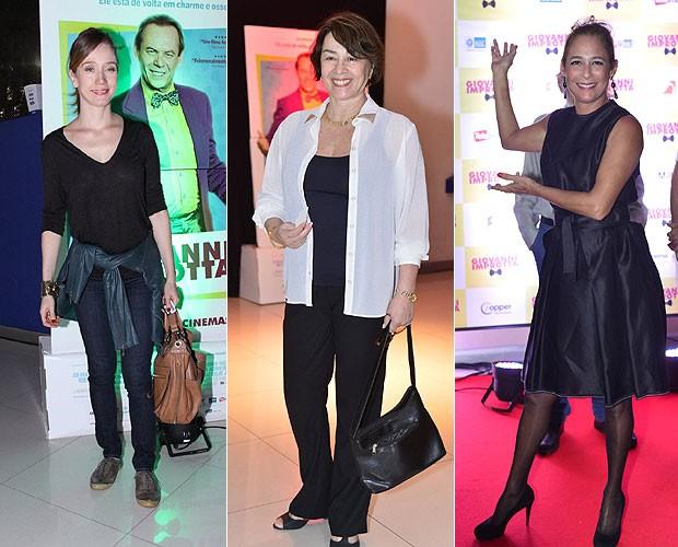 Camila Morgado (à esquerda), Nívea Maria (ao centro) e Andréa Beltrão (à direita) (Foto: Alex Palarea/André Muzell )