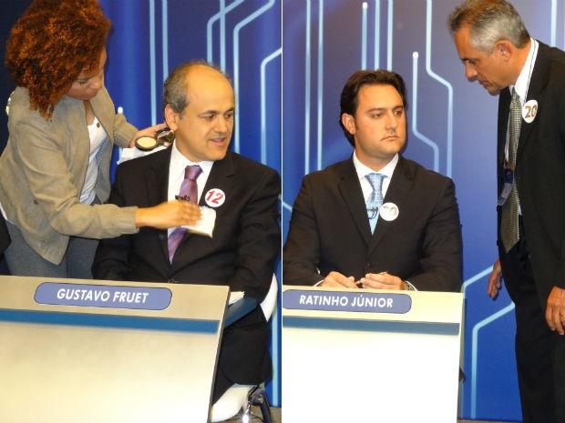 No 1º turno, Gustavo Fruet e Ratinho Jr. também participaram do debate promovido pela RPC TV (Foto: Sérgio Tavares Filho/G1)