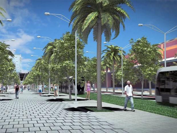 Boulevard no Porto Maravilha terá VLT (Foto: Reprodução / Porto Maravilha)