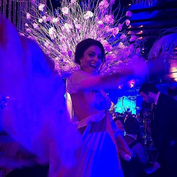 Juliana Paes no casamento de Paulo Gustavo no Rio (Foto: Instagram/ Reprodução)