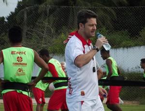Argel Fucks, técnico do América-RN (Foto: Tiago Menezes)
