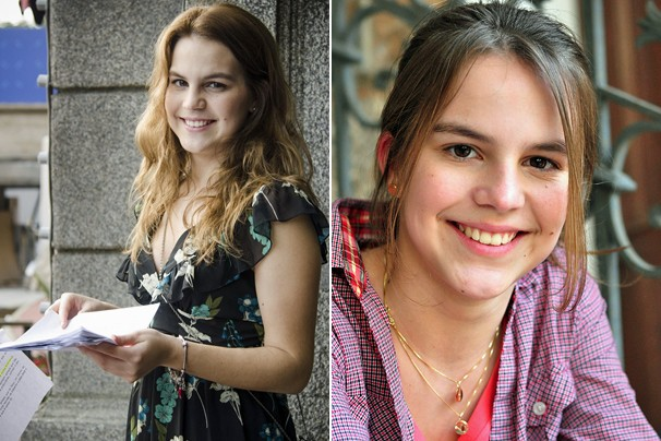 Bianca Salgueiro antes de gravar como Anita a nova temporada de Malhação e em Fina Estampa (2011) (Foto: Globo)