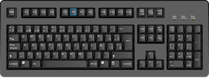 F6 move o curso na barra do navegador (Foto: Arte/TechTudo)