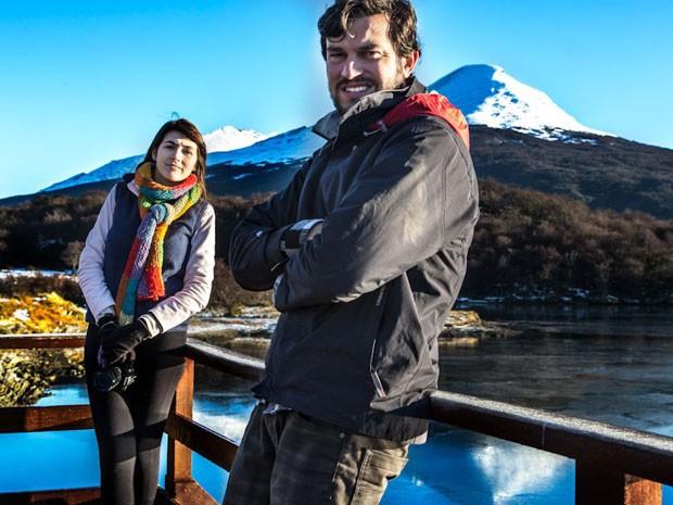 Leonardo Spencer e Rachel Paganotto na viagem pela América do Sul (Foto: Leonardo Spencer/Arquivo pessoal)