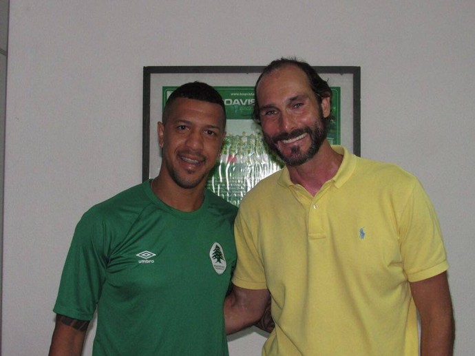 Antônio Carlos e Thiago Alves, reforços do Boavista (Foto: Vitor Silva/ Boavista)
