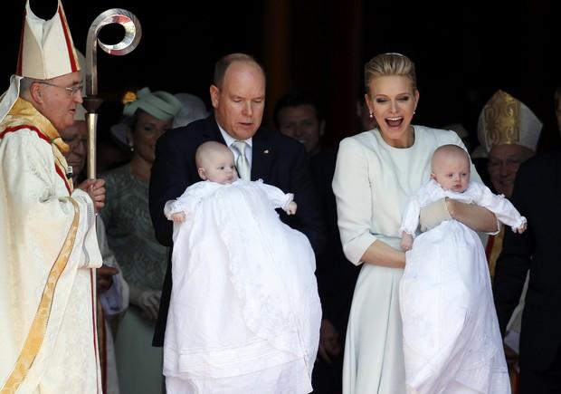 Príncipe Albert e Charlene de Mônaco batizam filhos gêmeos (Foto: REUTERS/Jean-Paul Pelissier)