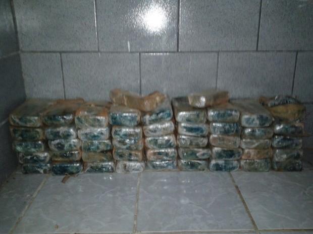 Droga estava escondida em veículo, segundo a Polícia Militar (Foto: Divulgação /PM)