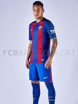 Neymar Barcelona uniforme (Foto  Divulgação Site oficial do Barcelona) d4cdd2656ce56