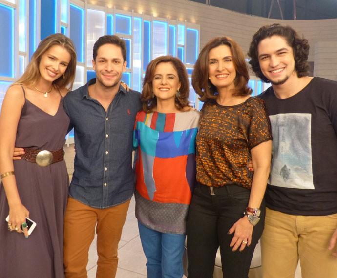 Yasmin Brunet, Rainer Cadete, Marieta Severo, Fátima e Gabriel Leone (Foto: Viviane Figueiredo Neto/ Gshow)