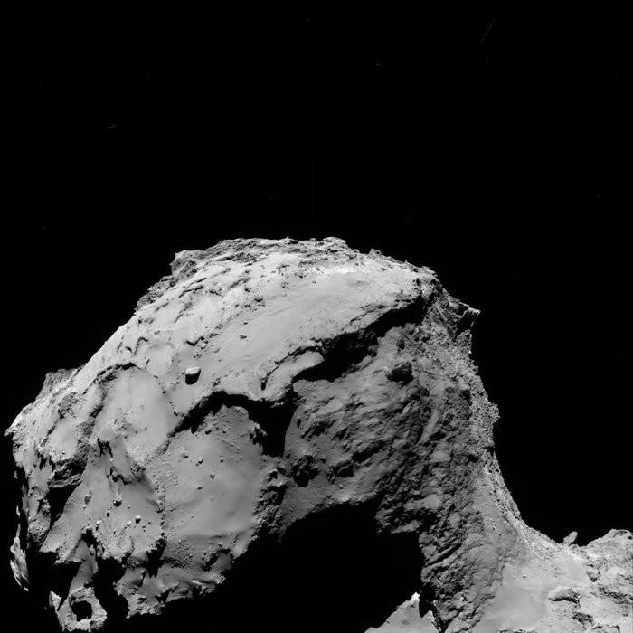 Imagem captada por Rosetta ao se aproximar do cometa (Foto: ESA/Rosetta/MPS)