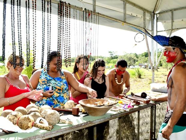 Visitantes poderão comprar artesanatos feitos pelos índios (Foto: Ascom/Maricá)