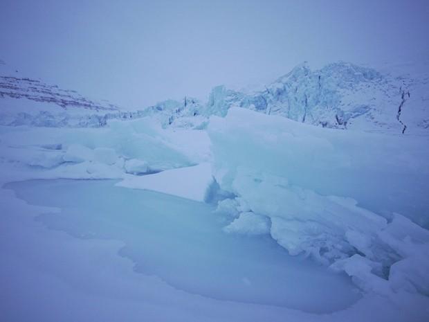 Geleira em Svalbard (Foto: Paulo Zero/TVGlobo)
