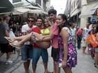 Mulher Melão faz 'blitz' no Rio para aprender a segurar amor de carnaval