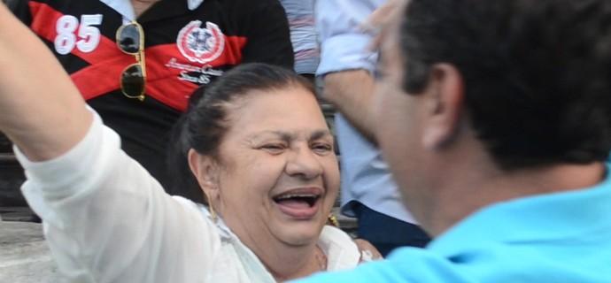 Rosilene Gomes comemora vitória de Amadeu Rodrigues (Foto: Cadu Vieira / GloboEsporte.com/pb)