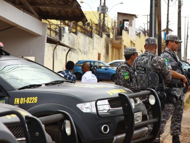 Desde o dia 12, Força Nacional começou suas atividades no Complexo de Pedrinhas (Foto: Biné Morais/O Estado)