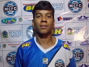 Rodrigo Santos, meia atacante do Montes Claros FC (Foto: Assessoria de Comunicação MCFC)