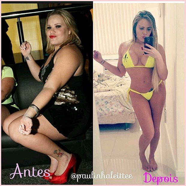 Ex-BBB Paulinha mostra antes e depois em rede social (Foto: Instagram/ Reprodução)