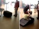 Polícia peruana flagra homem escondido em mala em aeroporto