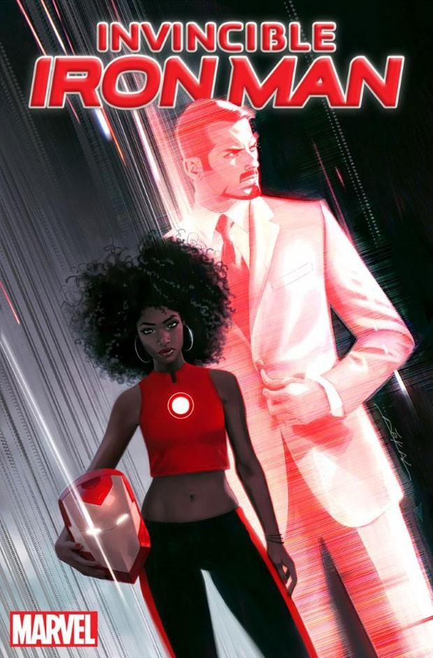 Riri Williams, uma mulher negra, substituirá Tony Stark como 'Homem de Ferro' em nova série da Marvel nos quadrinhos (Foto: Divulgação/Marvel)
