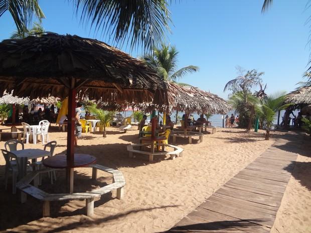Praia do Caripi Barcarena (Foto: Natália Mello/G1)