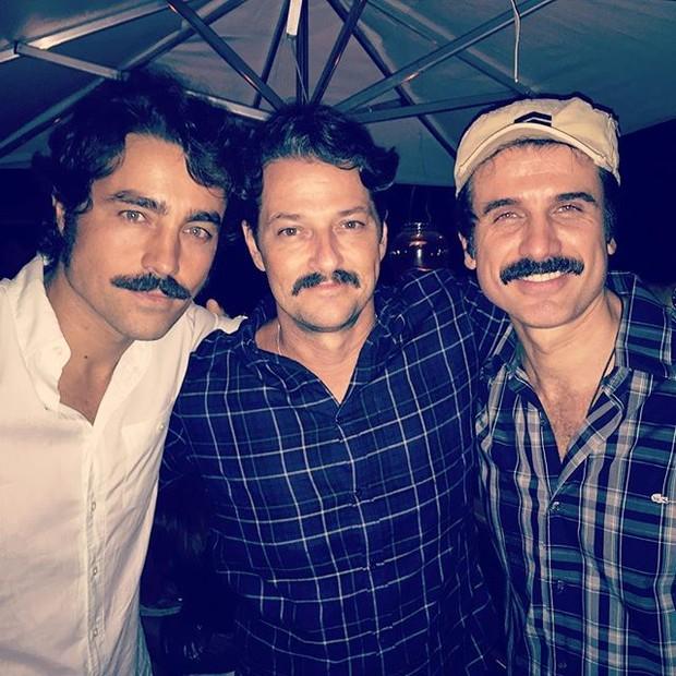 Ricardo Pereira, Marcelo Serrado e Eriberto Leão em festa no Rio (Foto: Instagram/ Reprodução)