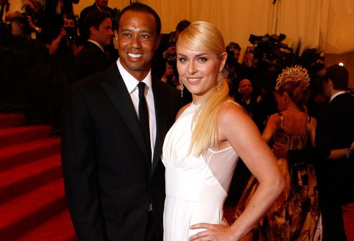 Tiger Woods e Lindsey Vonn em evento em Nova York (Foto: Reuters)