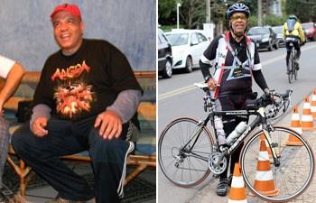 Marcelo Bernardini trocou o sedentarismo pela bicicleta e emagreceu 30 quilos (Foto: Arquivo pessoal/Marcelo Bernardini)