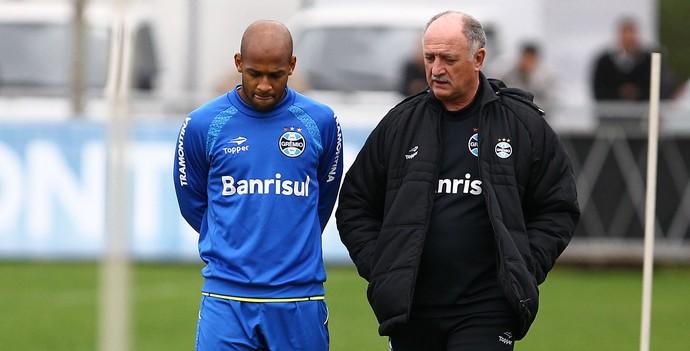 Fellipe Bastos Felipão treino Grêmio (Foto: Lucas Uebel/Grêmio)