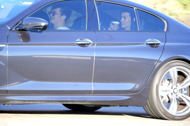 Katy Perry e Orlando Bloom foram fotografados juntos em  Malibu, na Califórnia (Foto: X-17)