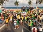 Manifestantes pró-impeachment se reúnem em duas cidades da Paraíba