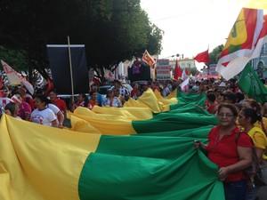 protesto amazonas manaus (Foto: G1 Amazonas)