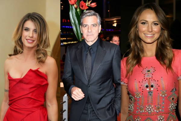 Elisabetta Canalis, George Clooney e Stacy Keibler (Foto: Getty Images)