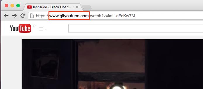 Coloque gif antes de youtube para transformar o vídeo em GIF (Foto: Reprodução/Paulo Alves)