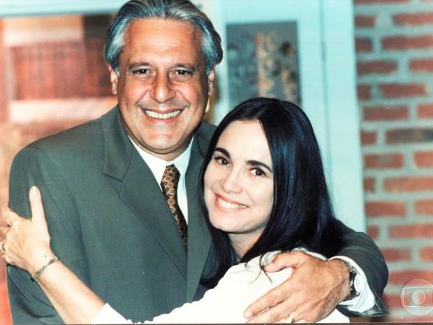 Atílio (Antonio Fagundes) e Helena (Regina Duarte) em Por Amor